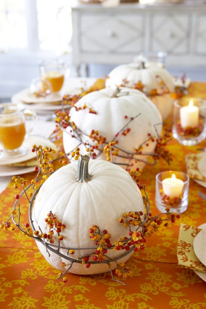 dinner tablescape decor design thanksgiving pumpkin