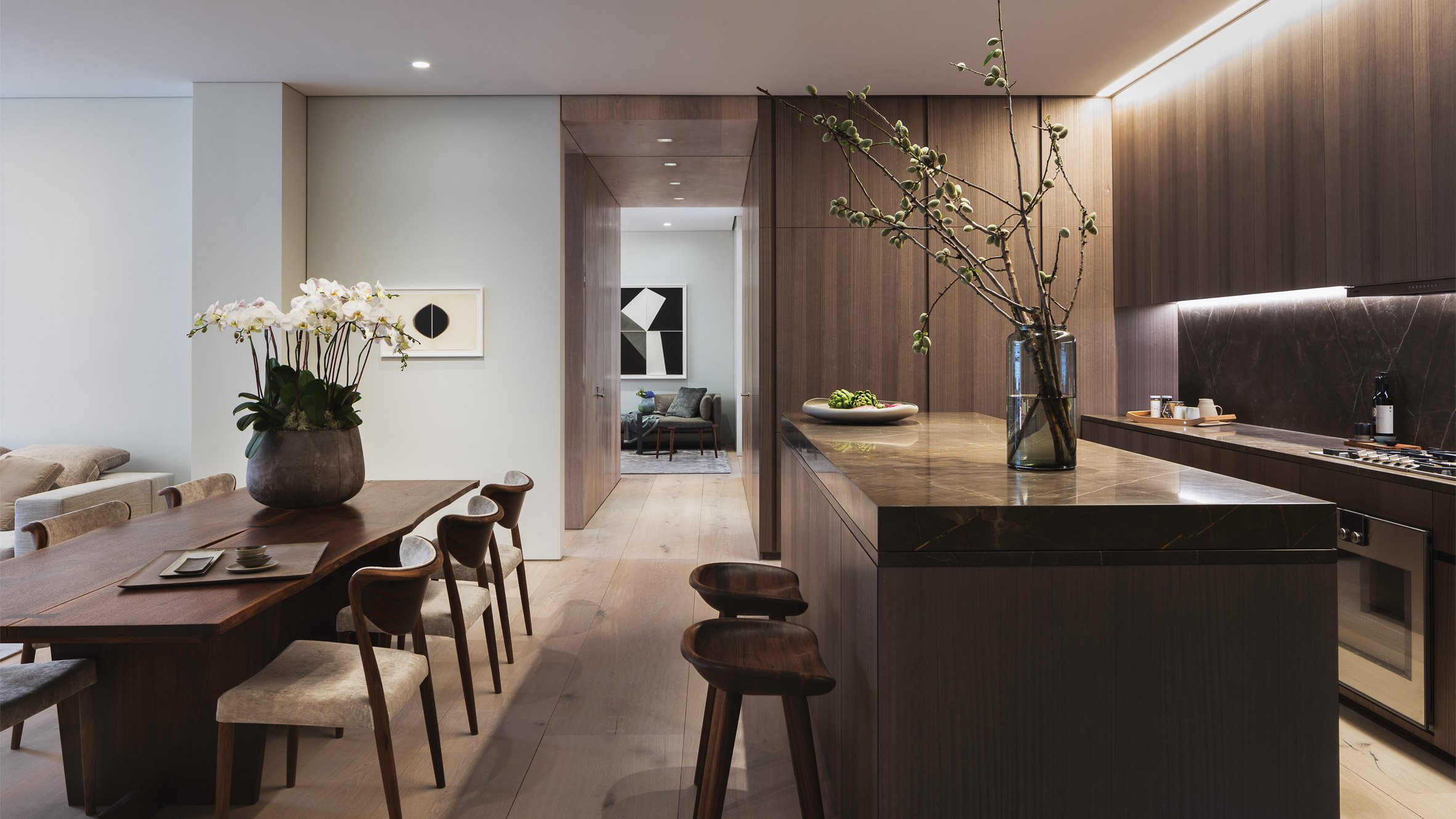 First apartment in tadao ando 39 s 152 elizabeth street for Interior design building nyc