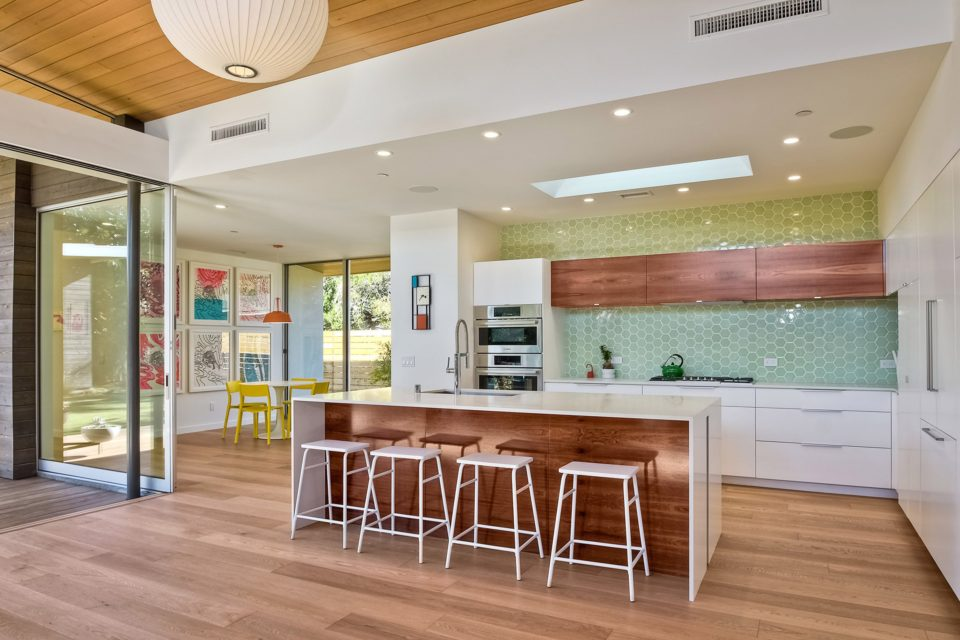 Southern California Beach Home Features Angled Roof With Crescent
